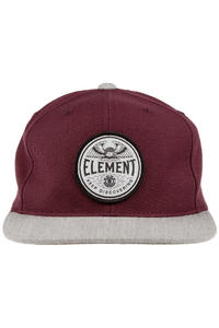 Element Brush Snapback Cap (merlot)