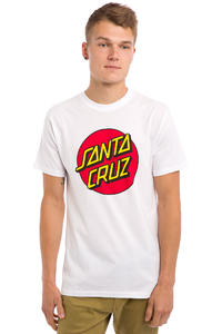 Santa Cruz Classic Dot T-Shirt (white red)
