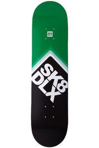 "SK8DLX Cube Logo II 7.625"" Deck (black green)"