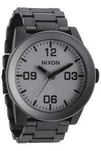 Nixon The Corporal SS Watch (matte black matte gunmetal)