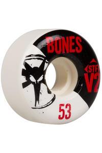Bones STF-V2 Series 53mm Rollen 4er Pack  (white black)