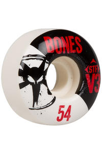 Bones STF-V3 Series 54mm Rollen 4er Pack  (white black)