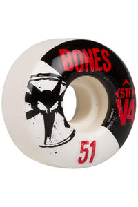 Bones STF-V4 Series 51mm Rollen (white black) 4er Pack