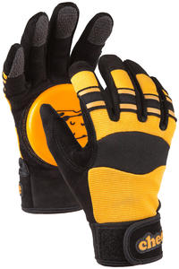 Cheese Basic Slide Gloves (black yellow)