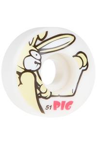 Pig Rabbit 51mm Rollen (white) 4er Pack