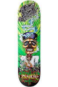 """Creature Gravette Hippie Skull 8.25"""" Deck (green)"""