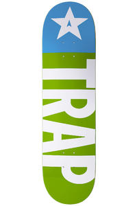 "Trap Skateboards Classic Big Flag Rise 8.375"" Deck (green white)"