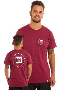 SK8DLX Stars T-Shirt (burgundy)