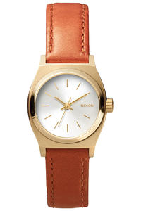 Nixon The Small Time Teller Leather Uhr women (light gold saddle)
