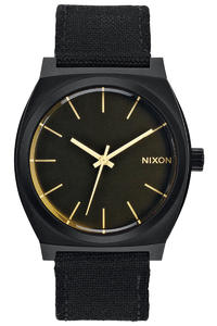Nixon The Time Teller Watch (matte black orange tint)