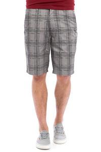 Volcom Frozen Plaid Reg Chino Shorts (gunmetal grey)