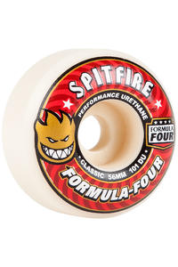 Spitfire Formula Four Classic 56mm Rollen (white red) 4er Pack