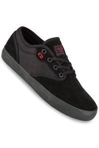 Globe Motley Suede Schuh (black black red)