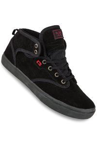 Globe Motley Mid Suede Schuh (black black red)