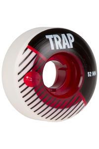 Trap Skateboards The Stripe 52mm Rollen (white black) 4er Pack