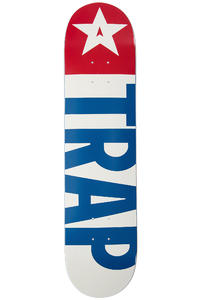 "Trap Skateboards Classic Big Flag OG 7.5"" Deck (white blue)"