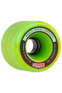 Hawgs Fatty 70mm 78A Rollen (yellow green swirl) 4er Pack