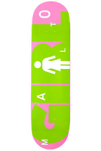 "Girl Malto Advertype 8.125"" Deck (pink green)"