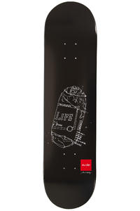 "Chocolate Eldridge Sketch 8"" Deck (black)"