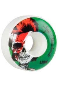 Girl Skull Of Fame 52mm Wheel (white green) 4 Pack