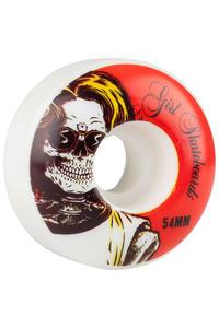 Girl Skull Of Fame 54mm Rollen (white red) 4er Pack