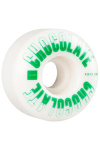 Chocolate Athletics 52mm Wheel (white green) 4 Pack
