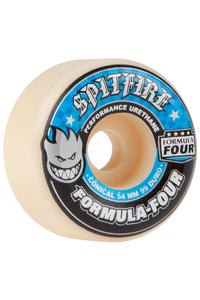 Spitfire Formula Four Conical 54mm Rollen (white blue) 4er Pack