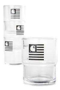 Carhartt WIP Stackable Glasses Acc. (black) 4er Pack