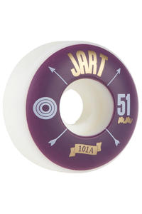 Jart Skateboards Arrow 51mm Rollen (white purple) 4er Pack