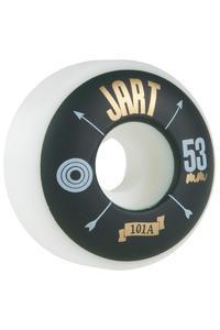 Jart Skateboards Arrow 53mm Rollen (white green) 4er Pack