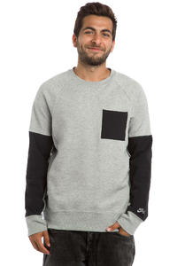 Nike SB Everett Overlay Pocket Sweatshirt (dark grey heather)