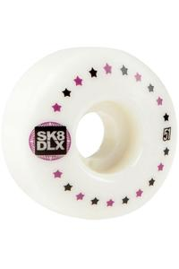 SK8DLX Stars 51mm Wheel (white) 4 Pack