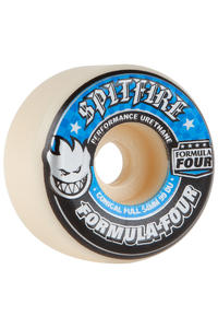 Spitfire Formula Four Conical Full 54mm Wheel (white blue) 4 Pack