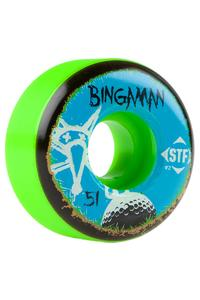 Bones STF Bingaman Bogey 51mm Wheel (green) 4 Pack