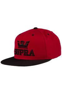 Supra Above Snapback Cap (burgundy black)