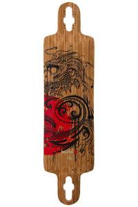 """Bustin Ibach 37"""" (94cm) Longboard Deck (zebrawood dragon)"""