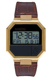 Nixon The Re-Run Leather Watch (brown croc)