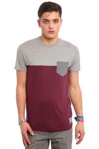Iriedaily Block Pocket T-Shirt (red wine)