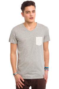 Iriedaily V-Pocket Ringel T-Shirt (ecru melange)