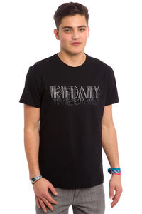 Iriedaily Art Deco Typo T-Shirt (black)