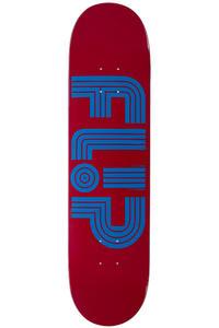 "Flip Odyssey Logo Tube 7.75"" Deck (burgundy)"
