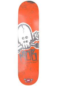 """MOB Skateboards Skull Stencil 7.5"""" Deck (orange)"""