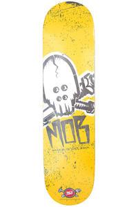 "MOB Skateboards Skull Stencil 7.625"" Deck (yellow)"