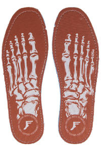 Footprint Skeleton King Foam Flat Insole (red)