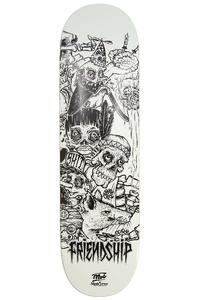 "MOB Skateboards x Skatecrew Friendship 3 8.5"" Deck (white black)"