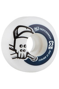 MOB Skateboards Skull 53mm Rollen (white blue) 4er Pack