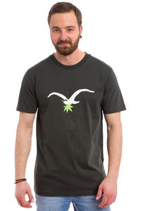 Cleptomanicx Leaf Möwe T-Shirt (pirate black)