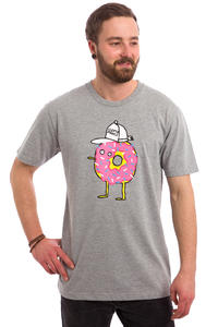 Cleptomanicx Donut Zitrone T-Shirt (heahter grey)