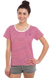 Cleptomanicx Möwe Stripes T-Shirt women (true red)