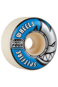 Spitfire Formula Four Radials 54mm Wheel (white blue) 4 Pack